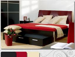 red and black room ideas to mix and match bedroom furnishing
