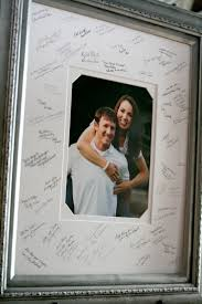 wedding signing frame via bergdesigns on etsy the guestbook photo mat idea