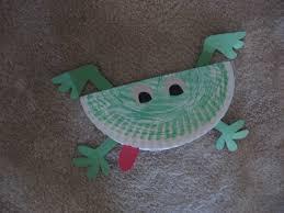 paper plate frog kiddie crafts 365 blog
