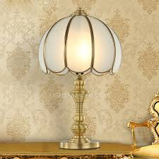 Vintage Brass Table Lamps Material Living Room Glass Shade Antique Brass Table Lamps