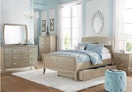 Girls Full Bedroom Sets by Noir Champagne 5 Pc Full Bedroom Panel