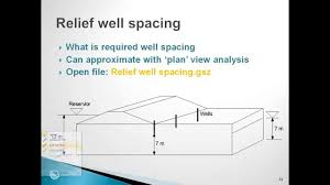 seep w session 10 plan view and relief wells youtube