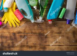 Wooden Table Top View Png Variety House Cleaning Product On Wood Stock Photo 542880400