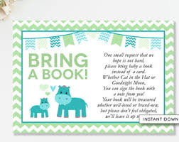 Books Instead Of Cards For Baby Shower Poem Safari Bring A Book
