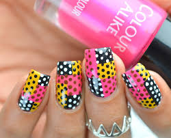 abstract polka dot nail art lifeisnails