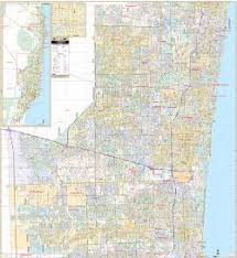 broward central cus map fort lauderdale broward counties florida wall map 2012