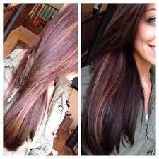 dark hair with caramel highlights appearance