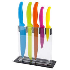 coloured kitchen knives buy 5 coloured knife block set from our knife blocks racks