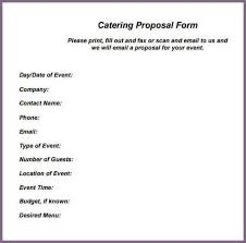 5 catering proposal templates free sample examplecatering