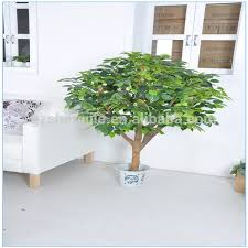 y26 artificial banyan tree bonsai with a pot real wood and fabric