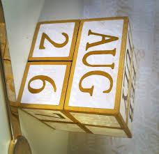 perpetual wood calendar wood anniversary engagement wedding gift