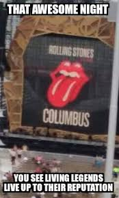 cary s comics craze the rolling stones rock ohio stadium
