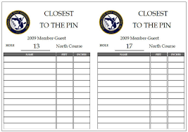 Golf Tournament Sign Up Sheet Template Sle Tournament