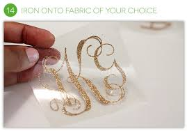 iron on monogram initials how to make an iron on monogram damask