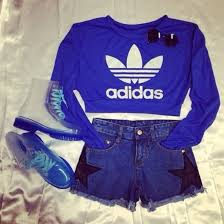 adidas crop top sweater sweater blue sweaters adidas sporty comfy swag