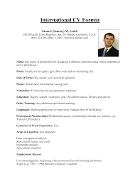examples of resumes resume format for internal job application