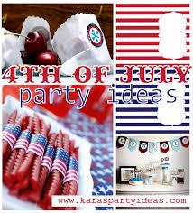 4th Of July Decoration Ideas Kara U0027s Party Ideas 4th Of July Party Idea Roundup Party On A