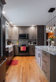 grey finish kitchen cabinets kitchen remodel with cherry wood cabinets viking kitchen