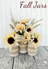 jar flower centerpieces fall jars with dollar store flowers crafting in the
