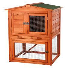 Outdoor Rabbit Hutch Plans Trixie Rabbit Hutch With Peaked Roof Medium Hayneedle