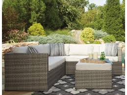 signature design by peckham park outdoor sectional set with