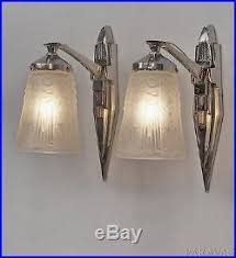 Deco Wall Sconces Muller Freres U0026 Petitot Pair French Art Deco Wall Sconces