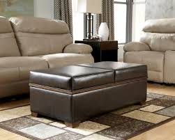 Soft Coffee Tables Brown Rectangle Traditional Leather Ottoman Soft Coffee Table