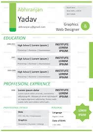 Job Resume Format In Hindi by 4 Set Creative U0026 Professional Resume Template By Abhiranjan