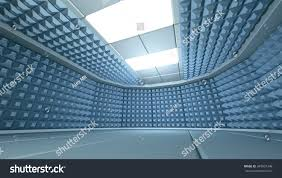 soundproof room interior 3d render image stock illustration