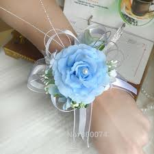 Wrist Corsages For Homecoming Aliexpress Com Buy 1pc Artificial Flower For A Wedding Wrist
