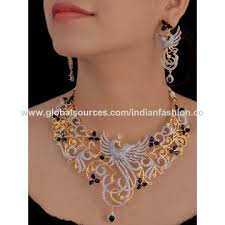 zirconia necklace set images India cubic zirconia jewelry set on global sources jpg