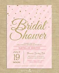 bridal brunch shower invitations blush pink gold glitter bridal shower invitation confetti