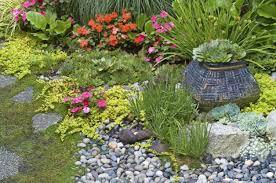 flower gardening build a rock garden