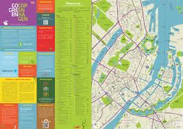 Copenhagen Map Sustainable City Map Gogreen Copenhagen On Behance
