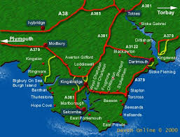 map uk villages the south hams district guide to local towns and villages