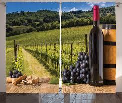 tuscany home decor wine decor curtains 2 panels set vineyard tuscany home decor ebay