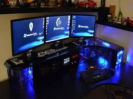 Custom Desk Plans Charming Brown Wooden Also Capticating Gaming Computer Desks