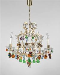 Glass Fruit Chandelier by Glass And Porcelain A Lobmeyr Chandelier With Polychrome Glass