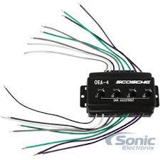 scosche oea4 oea 4 oem amp car stereo speaker level converter
