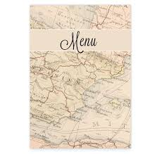 around the world wedding menus loving invitations