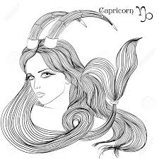 zodiac illustration of the astrological sign of capricorn as