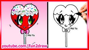 heart lollipop how to draw a heart lollipop