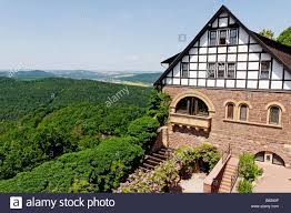 wartburg hall in the wartburg castle view of the thueringer wald