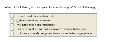 which of the following are examples of chemical ch chegg com