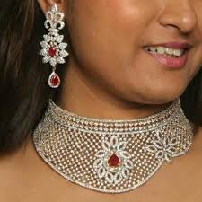 wear necklace images Party wear necklace at rs 11000 piece american diamond necklace jpg