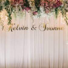 wedding backdrop name wedding solemization rom event backdrop with laser cut name blunting