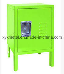 china american lock metal single door small kids toy storage