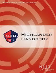 highlander handbook spring 2017 by njit nso issuu