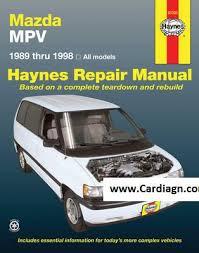 1989 1998 mazda mpv haynes repair manual pdf