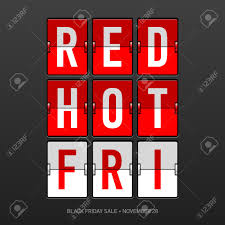 black friday sale sign red black friday sale flip panel royalty free cliparts